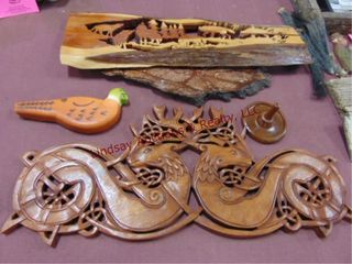 5 pcs decor  wood   1 wax pc