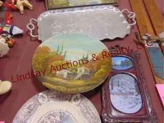 5pcs  metal tray  2 pictures  bowl  plate