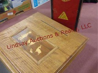 2 pcs wood stationary box  pwr strip    other