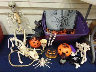 group of halloween decor SEE PICS