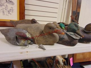 Approx 6 duck decoys