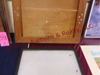 wood butterfly picture frame   display case