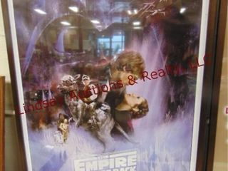 Star Wars  The Empire Strikes back framed poster