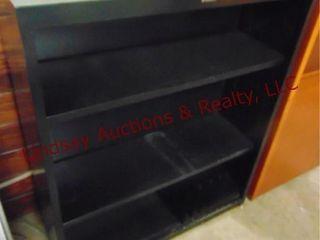 black metal shelf