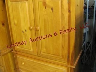 wood 2pc tv cabinet  2 drawers