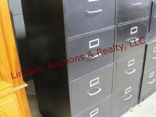 2  4 drawer metal file cabinets