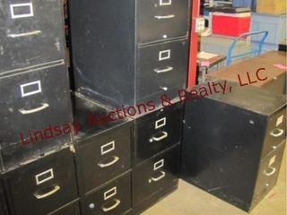 6  2 drawer metal file cabinets