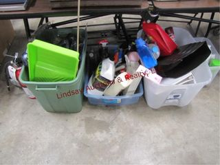 large group of misc cleaning supplies