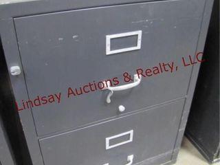 2 drawer fire file  no key