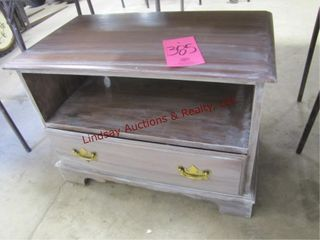 wood side table w  1 drawer