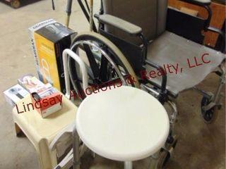 Group of handicap accessories  wheel  walker