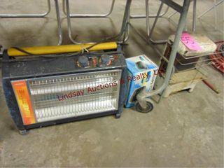 2 elec floor heaters   1 clock radio