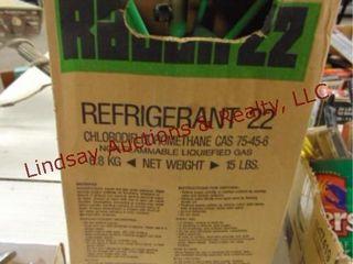 R 22 refrigerant bottle  Not full