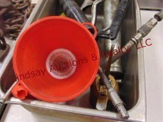 Metal pan  funnel  oil can  grease guns