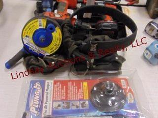 Air pwrd plunger  snake  tool belt