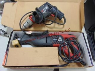 2pcs elec tools  Skil 1 2  hammer drill