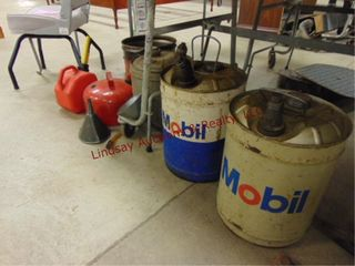 Group of gas cans   other  2 Mobil advertise cans