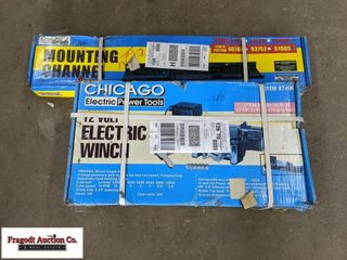Chicago Electric 10,000lb 120V winch with universa