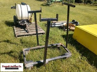 Cart for a welder with steel caster wheels