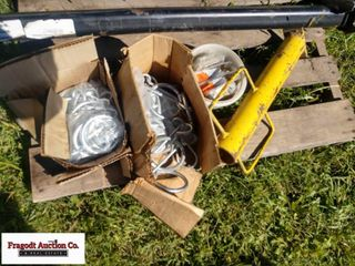 (2) Boxes of grain drill drag chains and post poun