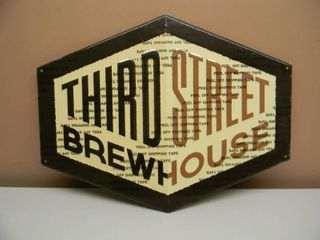 THIRD STREET BREW HOUSE TIN SIGN - COOL SIGN! - APPROX 23