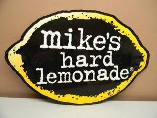 MIKE'S HARD LEMONADE TIN SIGN - APPROX 29