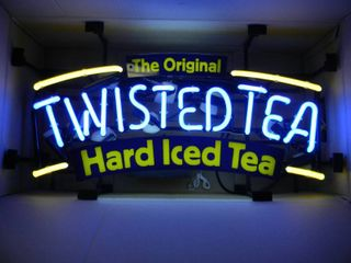 NEW IN BOX!!!!! ONLY OPENED FOR PICTURES!!!!! - TWISTED TEA NEON LIGHT! - AWESOME PIECE FOR THE CAVE!!!!! - APPROX 26