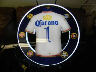 NEW IN BOX!!!!! ONLY OPENED FOR PICTURES!!!!! - CORONA SOCCER JERSEY NEON LIGHT! - AWESOME PIECE FOR THE CAVE!!!!! - APPROX 24