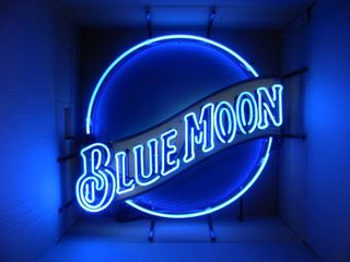 NEW IN BOX!!!!! ONLY OPENED FOR PICTURES!!!!! - BLUE MOON NEON LIGHT! - AWESOME PIECE FOR THE CAVE!!!!! - APPROX 29