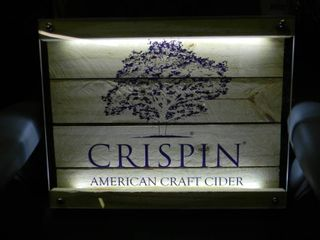 NEW IN BOX!!!!! ONLY OPENED FOR PICTURES!!!!! - CRISPIN AMERICAN CRAFT CIDER LED LIGHT! - ANOTHER AWESOME PIECE FOR THE CAVE!!!!! - APPROX 18