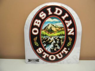 OBSIDIAN STOUT TIN SIGN - DESCHUTES BREWERY - APPROX 16