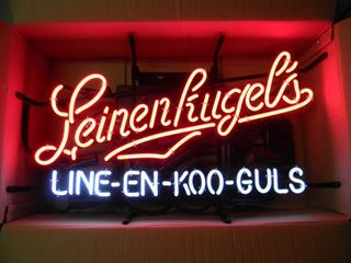 NEW IN BOX!!!!! ONLY OPENED FOR PICTURES!!!!! - LEINENKUGEL'S MOTION NEON LIGHT - ANOTHER AWESOME PIECE FOR THE CAVE!!!!! - APPROX 26