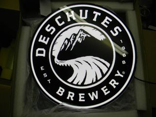 NEW IN BOX!!!!! ONLY OPENED FOR PICTURES!!!!! - DESCHUTES BREWERY LED LIGHT - ANOTHER AWESOME PIECE FOR THE CAVE!!!!! - APPROX 16