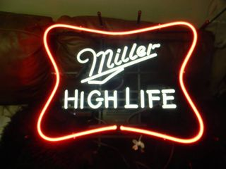 NEW IN BOX!!!!! ONLY OPENED FOR PICTURES!!!!! - MILLER HIGH LIFE NEON LIGHT - ANOTHER AWESOME PIECE FOR THE CAVE!!!!! - APPROX 25