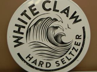 WHITE CLAW HARD SELTZER TIN SIGN - APPROX 20