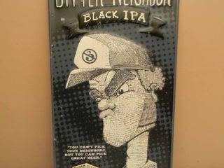 BITTER NEIGHBOR BLACK IPA THIRD STREET BREWHOUSE COLD SPRING MN TIN SIGN - APPROX 12