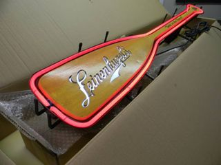 NEW IN BOX!!!!! ONLY OPENED FOR PICTURES!!!!! - LEINENKUGEL'S PADDLE NEON LIGHT - ANOTHER AWESOME PIECE FOR THE CAVE!!!!! - APPROX 50