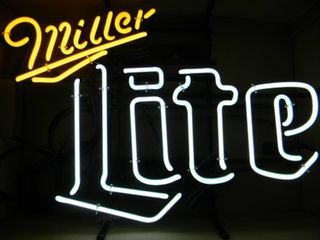 NEW IN BOX!!!!! ONLY OPENED FOR PICTURES!!!!! - TWO COLOR MILLER LITE NEON LIGHT - ANOTHER AWESOME PIECE FOR THE CAVE!!!!! - APPROX 24