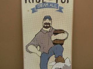 RISE TO THE TOP CREAM ALE THIRD STREET BREWHOUSE COLD SPRING MN TIN SIGN - APPROX 12