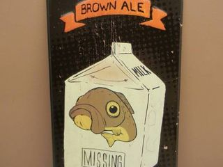 LOST TROUT BROWN ALE THIRD STREET BREWHOUSE COLD SPRING MN TIN SIGN - APPROX 12