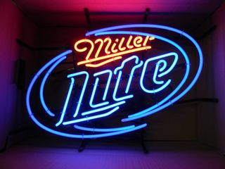 NEW IN BOX!!!!! ONLY OPENED FOR PICTURES!!!!! - MILLER LITE NEON LIGHT! - ANOTHER AWESOME PIECE FOR THE CAVE!!!!! - APPROX 25