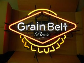 NEW IN BOX!!!!! ONLY OPENED FOR PICTURES!!!!! - GRAIN BELT BEER BOTTLECAP NEON LIGHT! - ANOTHER AWESOME PIECE FOR THE CAVE!!!!! - APPROX 28