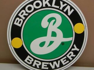 BROOKLYN BREWERY TIN SIGN - APPROX 17