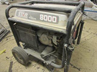 NORTH STAR 8000 PORTABLE GENERATOR, WITH HONDA GX 390 ENGINE