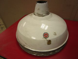 VINTAGE GAS STATION-STYLE APPLETON ELECTRIC LAMPSHADES