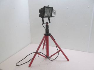 halogen work light on stand