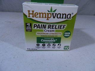 New Hempvana Pain Relief Cream