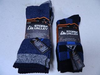 6 New Pair of Mens Storm Valley Boot Socks