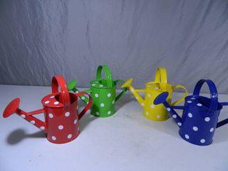 4 New Cute Polka Dot Metal Watering Cans
