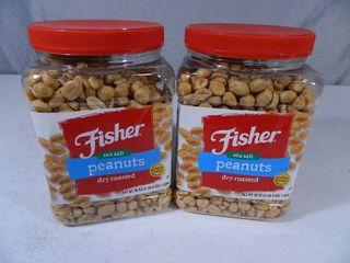 4 lbs 8 oz of Fisher Sea Salt Peanuts